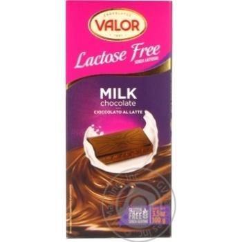 Шоколад молочний без л. Valor 100г