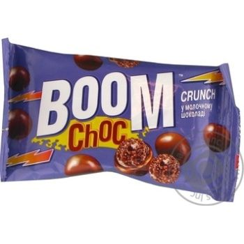 Boom Choc with rice balls in milk chocolate dragee 30g - buy, prices for Novus - image 1