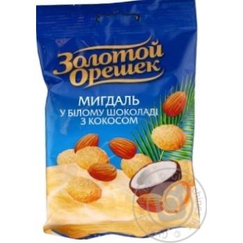 Драже Золотой орешек Миндаль в шоколаде с кокосом 100г