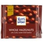 Шоколад молочный Ritter Sport с цельным лесным орехом 100г
