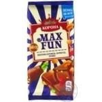 Шоколад молочный Корона МаксФан с мармеладом, печеньем и взрывной карамелью 160г