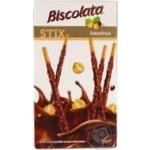 Соломка в молочному шоколаді з фундуком Biscolata Stix Hazelnut SOLEN 32г