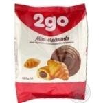 Круассаны 2go шоколадная начинка мини 180г