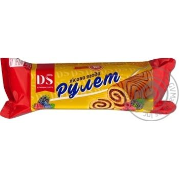 Roll Domashne sviato biscuit with berries 170g