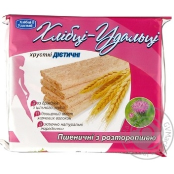 Хлебцы Хлебцы-Удальцы пшеничные хрустящие диетические с расторопшей 100г