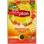 Чай чорний Lipton Tropical Fruit листовий з шматочками фруктів і пелюстками квітів 80г