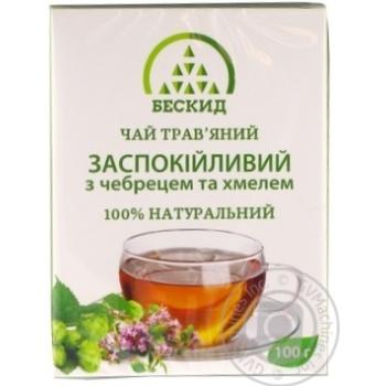 Чай трав'яний Заспокійливий з чебрецем Бескид 100г - купити, ціни на Novus - фото 1