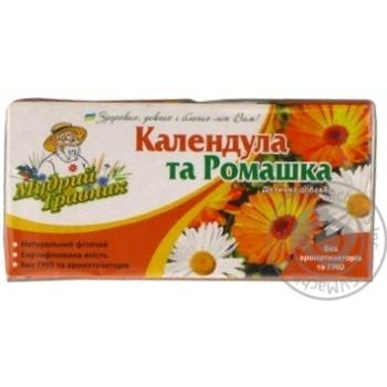 Фиточай Мудрый Травник Календула и Ромашка в пакетиках 20х2г - купить, цены на Novus - фото 2