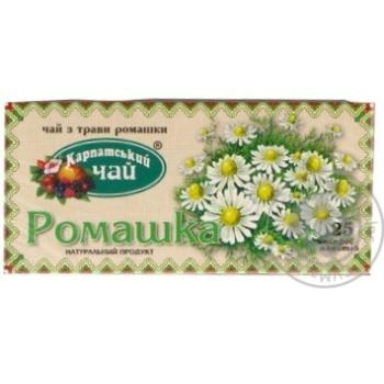 Травяной чай Карпатский Чай Ромашка в пакетиках 25х1г