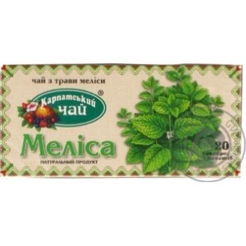 Травяной чай Карпатский Чай Мелисса в пакетиках 20х1.35г