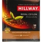 Чай Hillway чорний байховий цейлонський Royal Ceylon пакетований 2г/100/12 - купить, цены на Novus - фото 1
