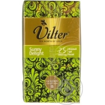 Чай зеленый VILTER Sunny Delight в пакетиках 25х1.5г