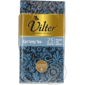 Чай черный цейлонский байховый VILTER Эрл Грей  в пакетиках 25х2г - купить, цены на Novus - фото 2