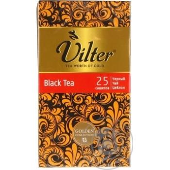 Чай черный цейлонский байховый VILTER в пакетиках 25х2г - купить, цены на Novus - фото 2