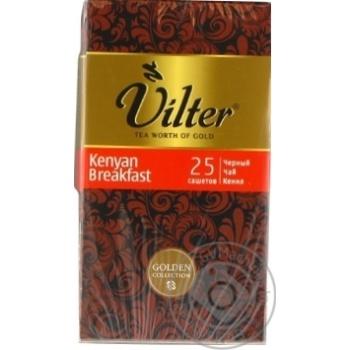 Чай чорний VILTER Kenyam breakfast в пакетиках 25х2г - купити, ціни на Novus - фото 3