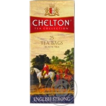 Чай чорний Англійський міцний Chelton пакет з/я 1,5г*25шт