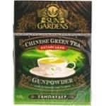 Зеленый чай Сан Гарденс китайский байховый крупнолистовой высшего сорта Ганпаудер 100г Украина