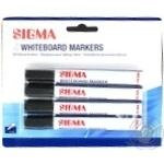 Маркери для дошки Sigma чорні 4шт - купити, ціни на Метро - фото 1