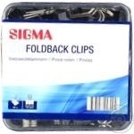Біндери чорні Sigma 19mm 80шт - купити, ціни на Метро - фото 1