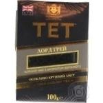 Black pekoe tea TET Lord Grey with bergamot big leaf 100g England