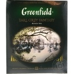 Tea Greenfield Earl grey with oil of bergamot black packed 100pcs 200g