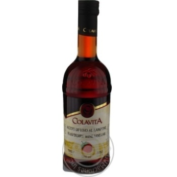 Уксус винный красный Colavita с ароматом малины 500мл