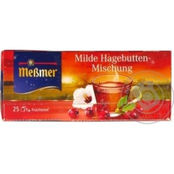 Чай фруктовий Шипшина Мессмер 25*3г