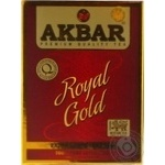 Black tea Akbar Royal Gold extra large leaf 80g