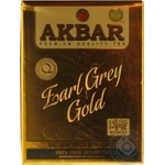 Black tea Akbar Earl Grey Gold with bergamot big leaf 80g