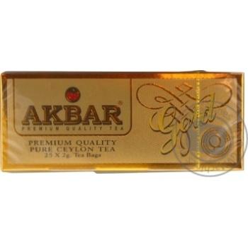 Черный чай Akbar Gold в пакетиках 25х2г