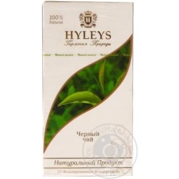 Black pekoe tea Hyleys 25x2g teabags Sri Lanka - buy, prices for Novus - image 1