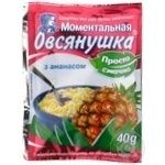 Oatmeal porridge Ovsyanushka with pineapple and sugar quick-cooking 40g Ukraine