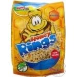 Сніданок сухий готовий Зернові кільця з медом Bona Vita 375г - купити, ціни на Novus - фото 1