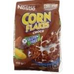 Готовый завтрак Nestle Corn Flakes хрустящие кукурудзные хлопья с какао 450г