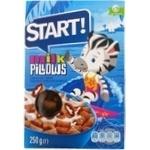 Сухие завтраки Start подушечки с молочной начинкой 250г Украина