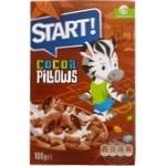 Сухі сніданки Start Подушечки з какао начинкою 100г