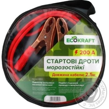 Старт кабель EcoKraft 200A - купити, ціни на МегаМаркет - фото 1