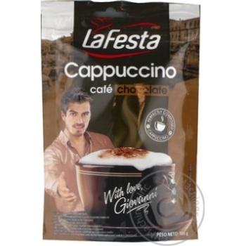 Instant drink La Festa Cappuccino Chocolate 100g - buy, prices for Novus - image 1