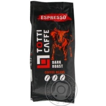 Кава в зернах TOTTI Caffe Espresso пакет 250г