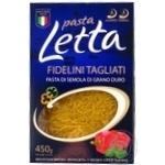Изделия макаронные Pasta Letta вермишель 450г