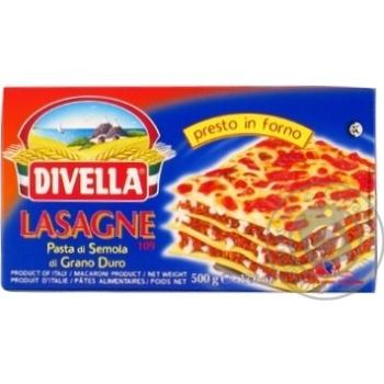 Макарони Divella Lasagne di semola 500г - купити, ціни на Novus - фото 1
