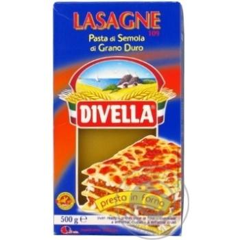 Макарони Divella Lasagne di semola 500г - купить, цены на Novus - фото 2