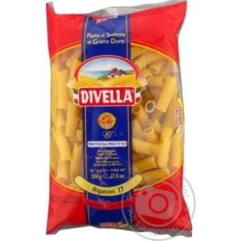 Макаронні вироби Divella Rigatoni №17 500г - купити, ціни на Novus - фото 1
