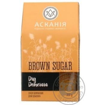 Сахар Аскания-Пак Dry Demerara коричневый 300г - купить, цены на Varus - фото 1