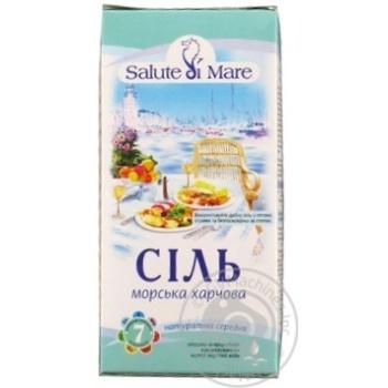 Соль Salute di Mare морская пищевая средняя 750г