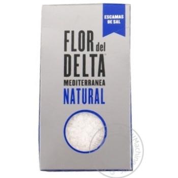 Cіль Гурме середземноморська крупна Flor del Delta картонна упаковка 125г
