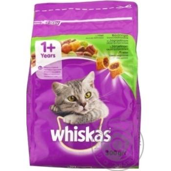 Корм сухой Whiskas для взрослых кошек с ягненком 300г - купить, цены на Novus - фото 4