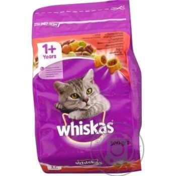 Корм сухой Whiskas для взрослых кошек с говядиной 300г - купить, цены на Ашан - фото 4