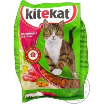 Корм сухий Kitekat для котів з яловичини 400г