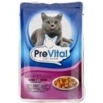 PreVital for cats in jelly with rabbit meat and turkey food 100g